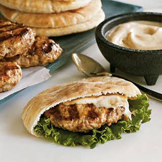 Lamb and Turkey Pita Burgers.