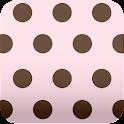 cute pink polka dots Wallpaper icon