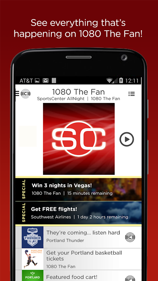 ESPN Sports Radio 1080 The FAN - screenshot