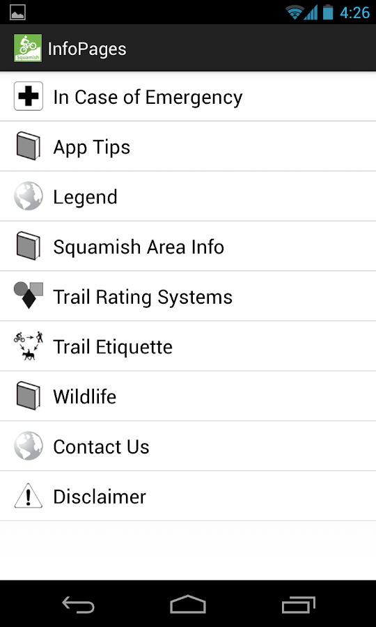 TrailMapps: Squamish- screenshot