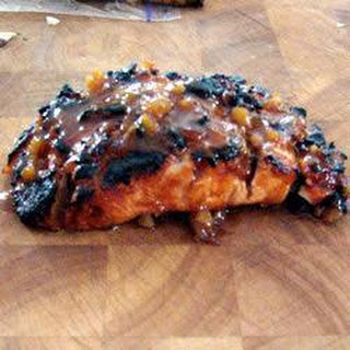 Apricot and Ginger Glazed Salmon