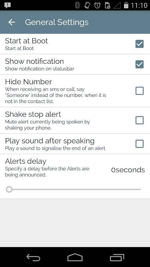 Voice Alerts- screenshot