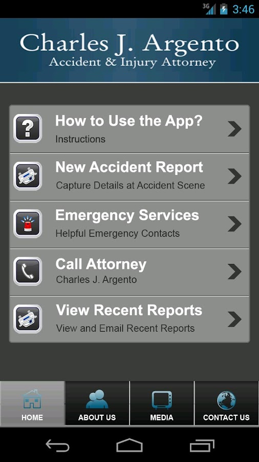 Charles Argento Accident App- screenshot