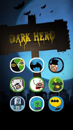 Dark Hero Hola Launcher テーマ
