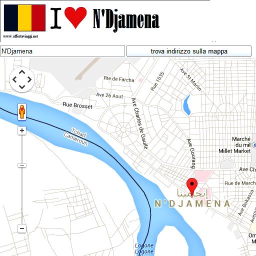 N'Djamena maps