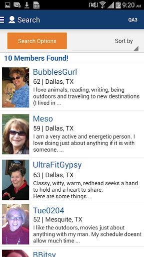 Seniors Meet Dating App screenshot