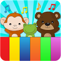 Animal sounds piano for kids icon
