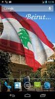 Screenshot of 3D Lebanon Flag Live Wallpaper
