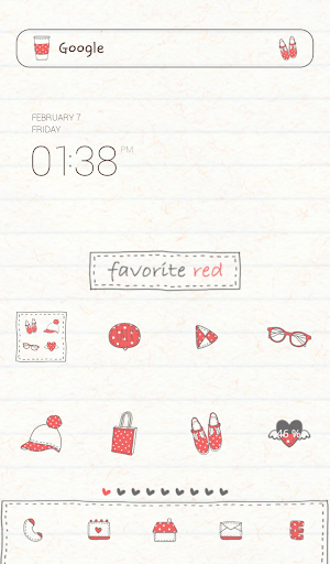 favorite red dodol theme