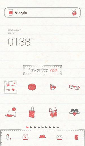 favorite red 도돌런처 테마