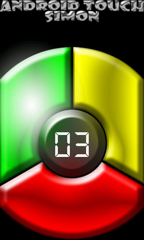 Android Touch Simon - screenshot