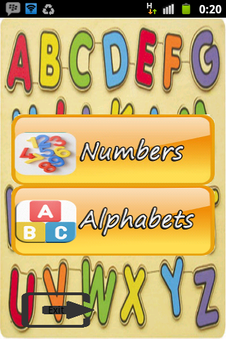 alphabet and number for kids