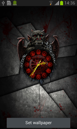 Gargoyle Clock Live Wallpaper