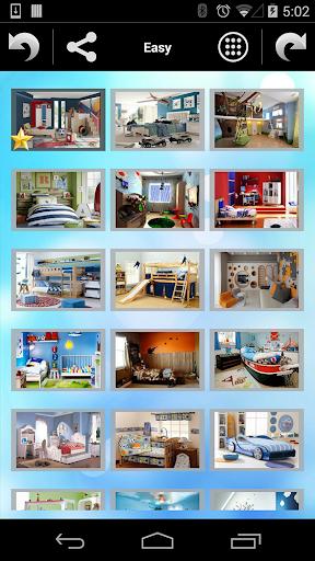 男の子の部屋のパズル