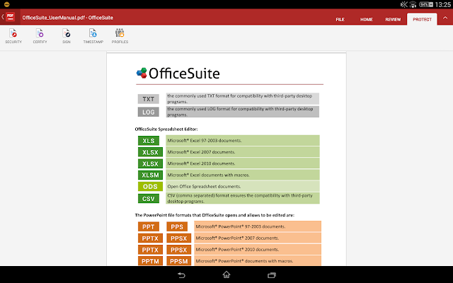 OfficeSuite 8 + PDF para Word - captura de tela