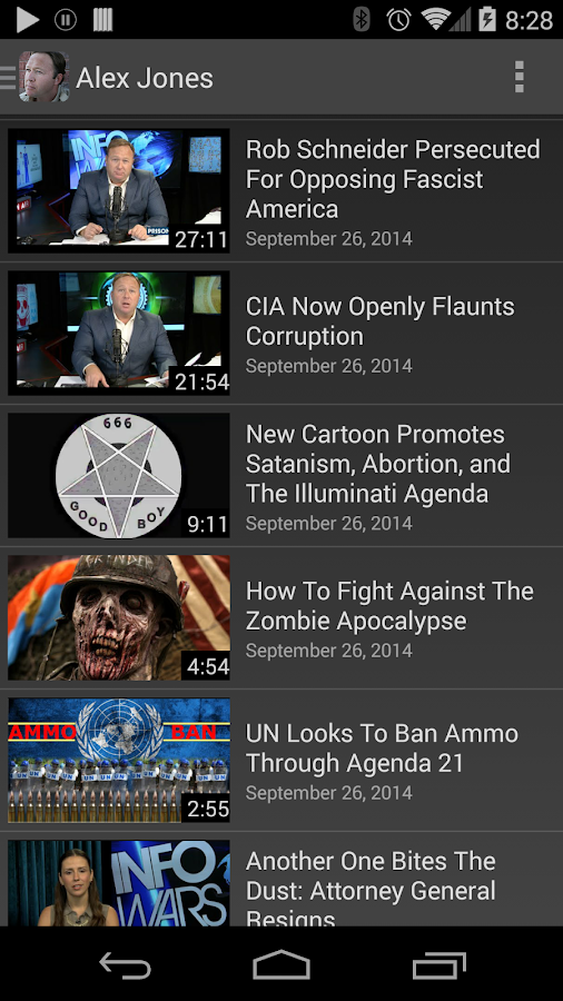 Alex Jones' InfoWars- screenshot