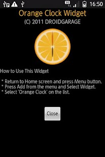 Orange Clock Widget - screenshot thumbnail