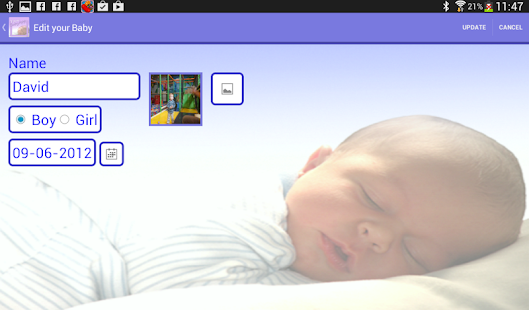 Your Baby App (baby - parents) - screenshot thumbnail