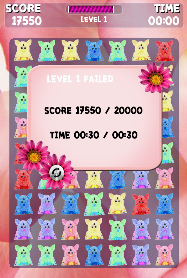 Cake Furby 3 Match Game - screenshot
