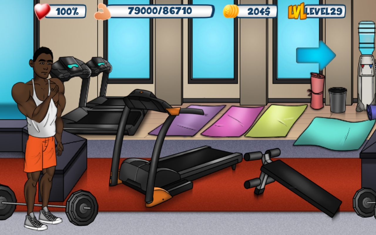 Bodybuilding & Fitness game - Iron Muscle 2- screenshot