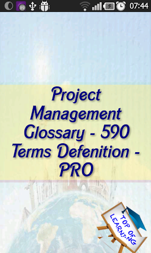 Project management Glossary-LT