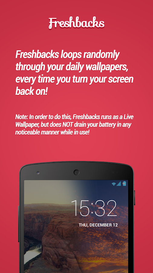Freshbacks - Daily Wallpapers - screenshot