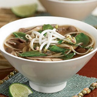 Spicy Asian Beef and Noodle Soup.