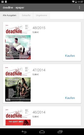 deadline Filmmagazin - epaper