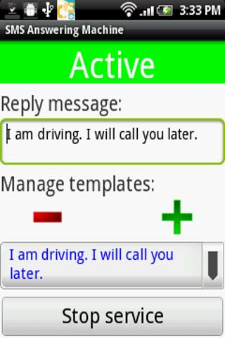 SMS (Text) Answering Machine - screenshot