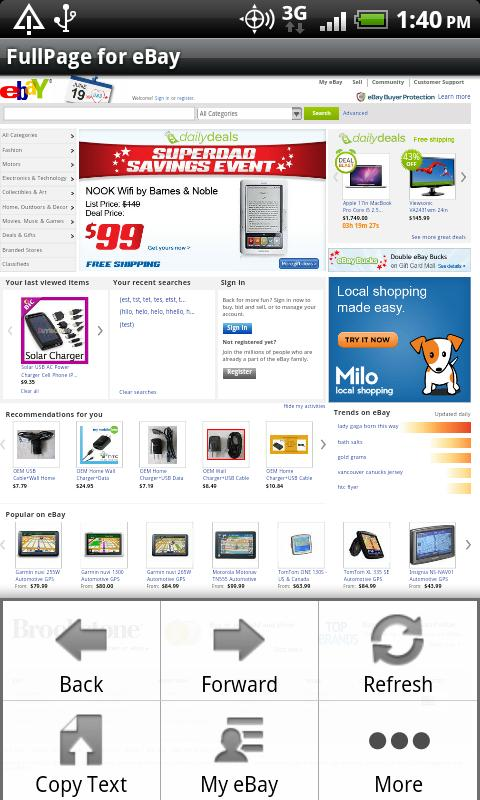 FullPage for ebay (USA)- screenshot