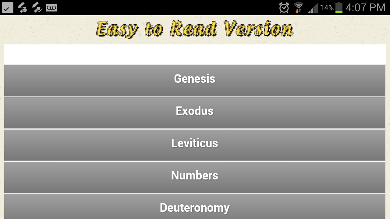 Easy To Read Bible - screenshot