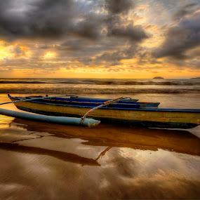 When Stranded by Johan Wan - Transportation Boats