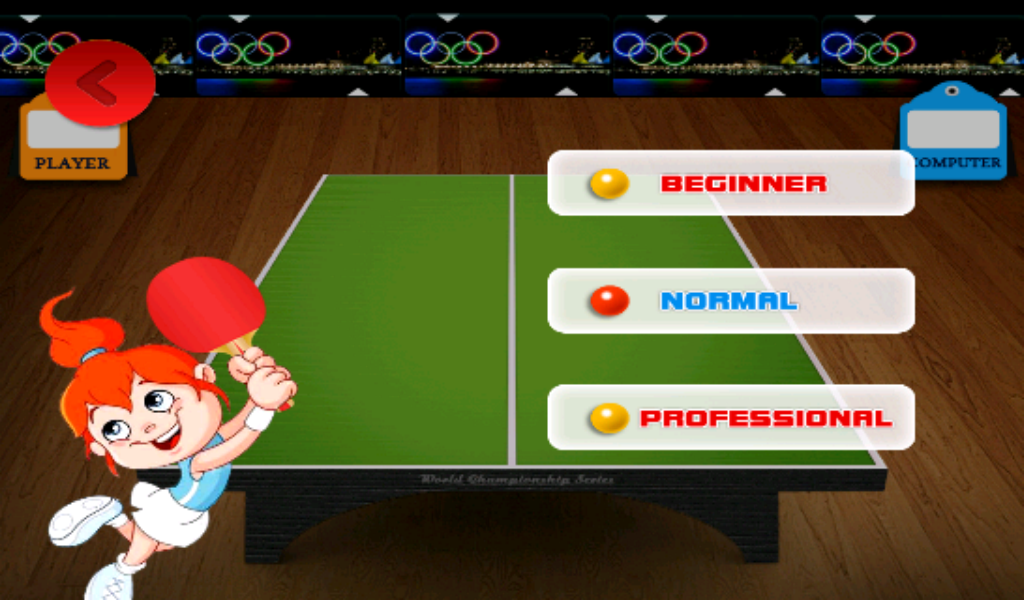 Table Tennis Game- screenshot