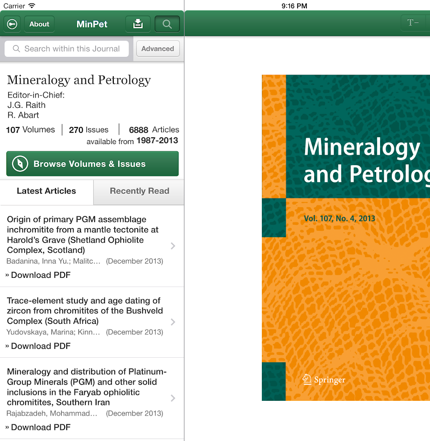 Mineralogy and Petrology - screenshot