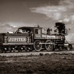 by Daniel Olsen - Transportation Trains ( golden spike national historic site, trains )