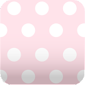 cute pink dots wallpaper ver28 icon