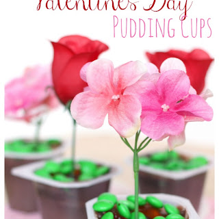 """Pick Me!"" Valentine's Day Pudding Cups"