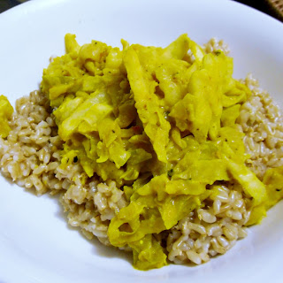 Sunny Mustard Cabbage Curry.