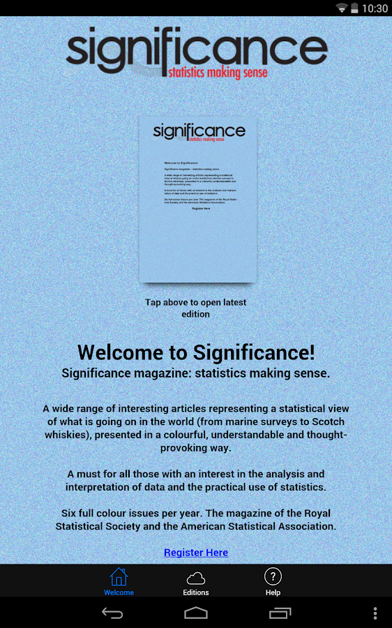 Significance - screenshot