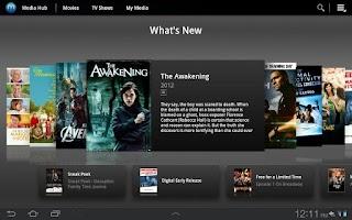 Screenshot of Samsung Media Hub