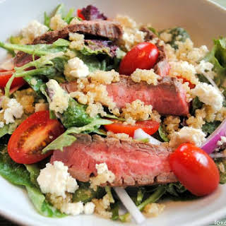 Steak-Quinoa Salad with Avocado-Lime Ranch Dressing.