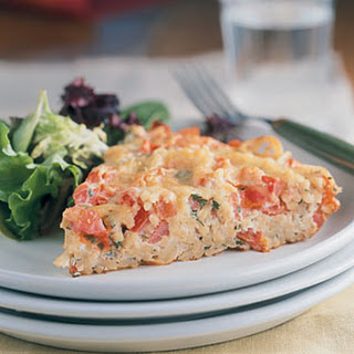 Frittata with Spaghetti and Tomatoes.