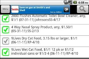 Screenshot of Grocery Smarts -SO CAL coupons