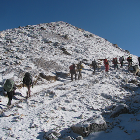 And Adventure Begins by Shishir Desai - People Group/Corporate ( adventure, snow, people, nepal, winter, cold )