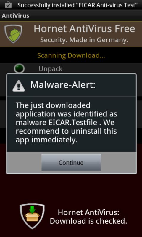Hornet AntiVirus Free - screenshot