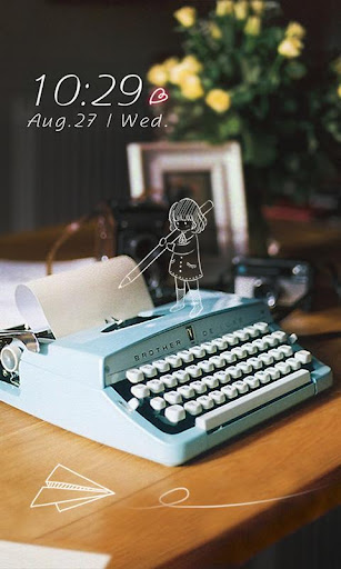 时光打字机动态锁屏壁纸