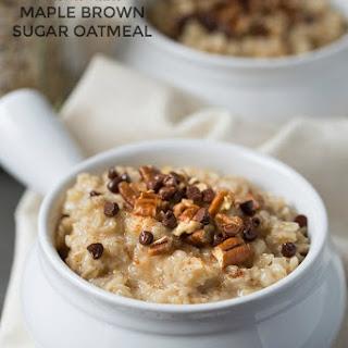 Homemade Maple Brown Sugar Oatmeal.