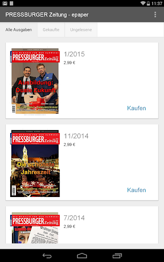 PRESSBURGER Zeitung - epaper