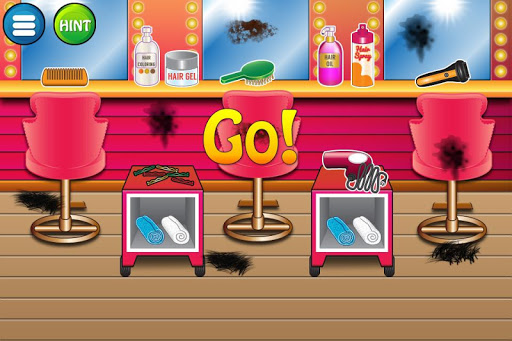 Hairdresser clean up game