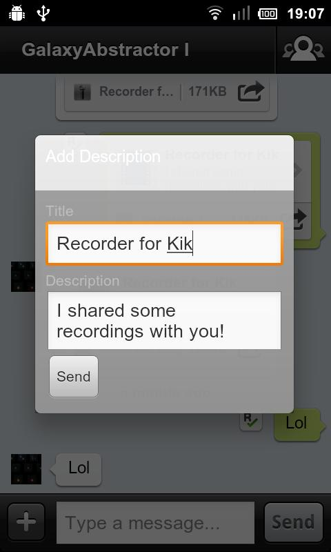 Recorder for Kik - screenshot